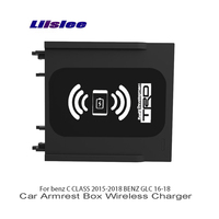 Liislee Car Sundries Box Car Charger Wifi Charger Storage For Mercedes Benz C CLASS W205 S205 C205 A205 BENZ GLC X253 C253
