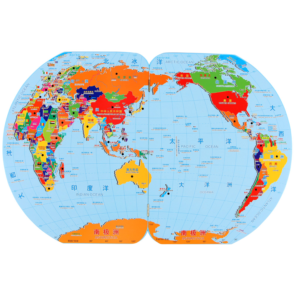 Early childhood childrens flag world map puzzle board early childhood childrens flag world map puzzle board childrens educational toys cognitive flag 3 4 6 years old in math toys from toys hobbies on gumiabroncs