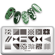 MiFanXi Geometric Triangle Rectangle Nail Stamping Plates Template Manicure Nail Art Stamp Image