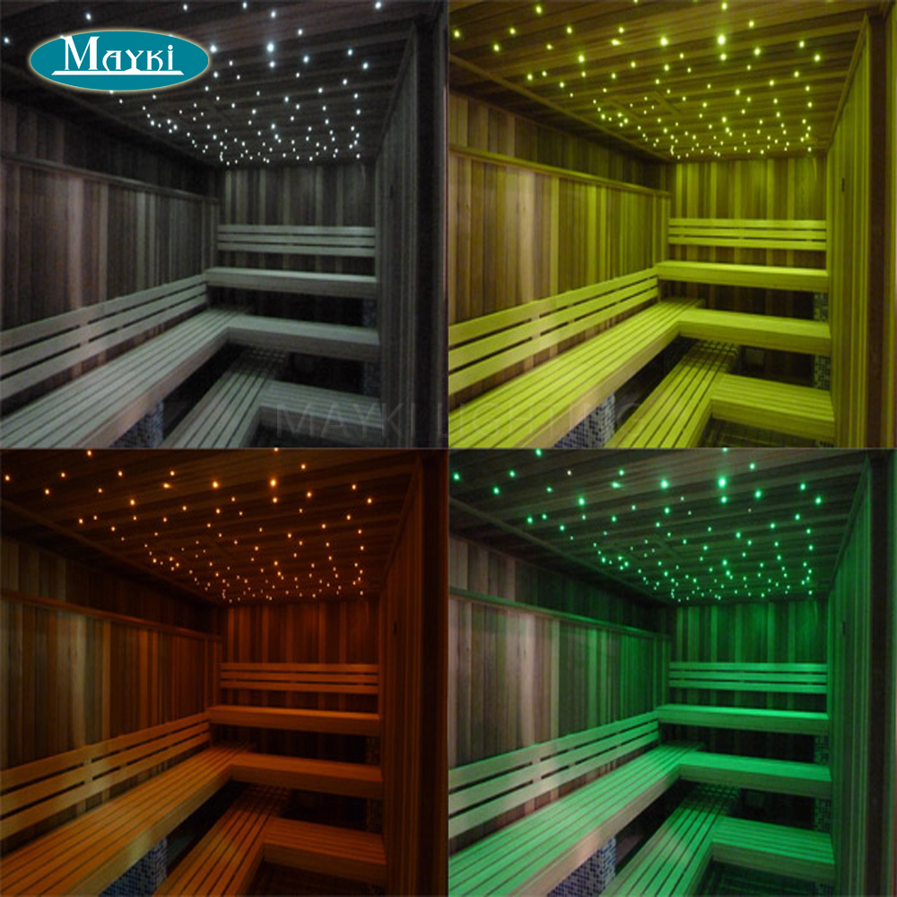 Sauna Led Us 138 41 31 Off Maykit Cree Chip 5w White Led Fiber Optic Lighting Illuminators For Sauna Room With 105pcs 1 5mm 2m Black Sheated Fiber Harness In