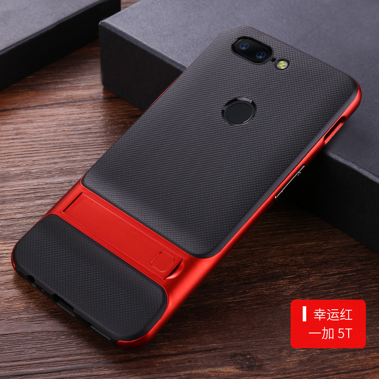 For Oneplus 5T case 360 Protective Kickstand PC+TPU Shock Proof Holder Case For One plus 5T cover phone coque for Oneplus 5 T
