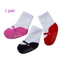 Хлопковые детские носки для маленьких девочек; сезон осень-весна; противоскользящие носки для балета для новорожденных; Одежда для танцев; подарок для младенцев