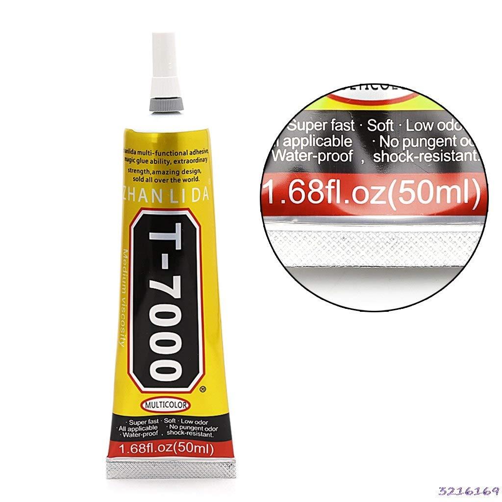1Pcs 50ml Industrial Strength Adhesive T7000 Black Liquid Glue For Touch Screen DIY Stick Drill Jewerly Craft Rhinestone Glue