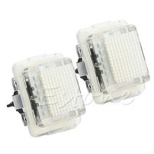 2pcs LED Bulbs Number License Plate Light Lamp For Mercedes Benz W204 2013 White
