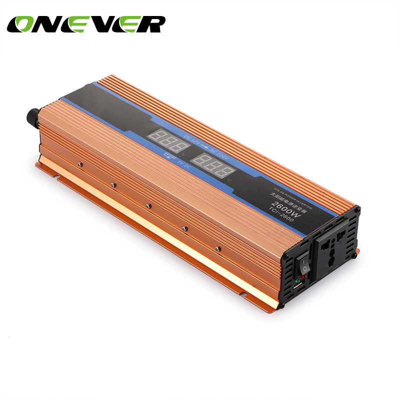 ONEVER Car Inverter 2600W DC 12V to AC 220V Power Inverter Charger Converter Sturdy and Durable