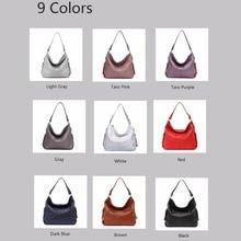 ZENCY Women Genuine Leather Crossbody Messenger Shoulder Bags Handbags Ladies Girls White Purple Gray Red Dark Blue Pink Color