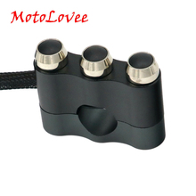 MotoLovee мотоцикл 7/8 «22 мм ЧПУ алюминий Руль управления для мотоциклов управление переключатель моторный рожок кнопка электрический старт убить лампа