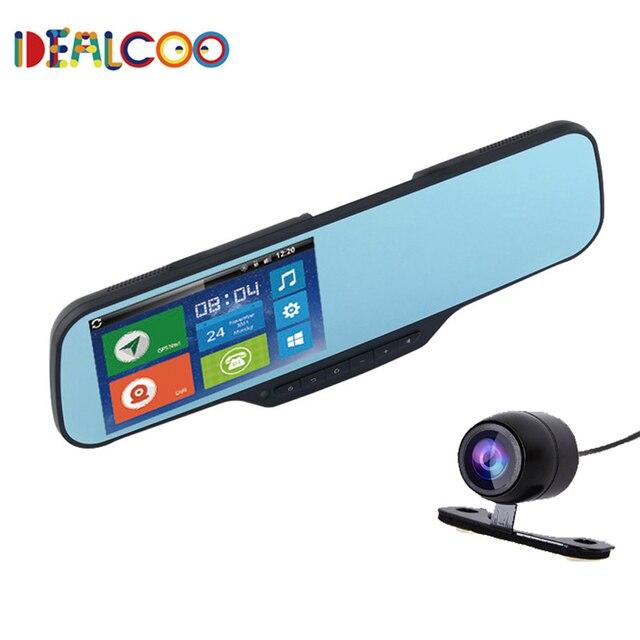 JC900 Автомобильный ВИДЕОРЕГИСТРАТОР Камера Зеркало Android с GPS Full HD 1080 P Зеркало Заднего Вида с двумя Камеры Автомобиль Blackbox видеорегистратор рекордер