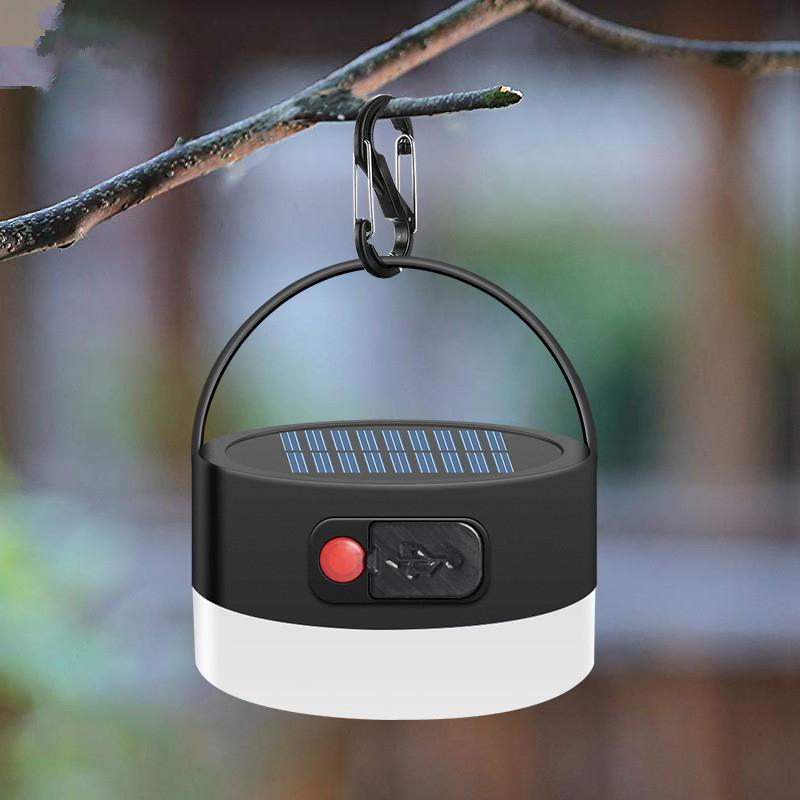 LumiParty Camping Light Solar Powered Lantern LED Mini Hanging Lamp For Tent Lamp Solar USB Input Output Ip65 Waterproof