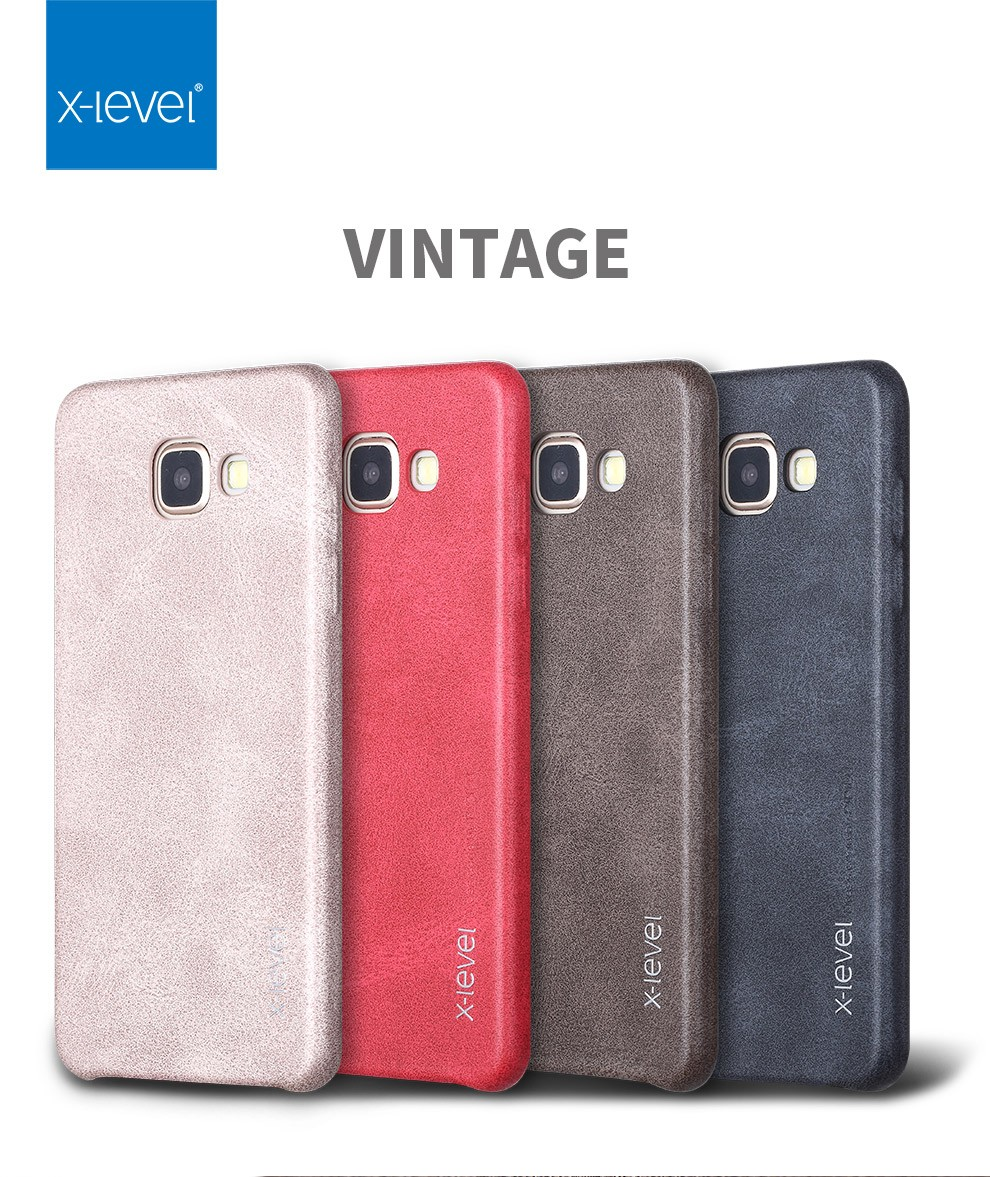 uk availability 8342d da270 US $8.22 |X Level Luxury Retro PU Leather Case For Samsung Galaxy A5 2016  A510 Back Cover For Samsung A5 6/A510F/A510M/A510FD Capa-in Fitted Cases ...