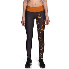Fitness Leggings Fashion Evil smiley skull Halloween High Waist leggings Women's Worker Sexy Pencil Pants Drop shipping