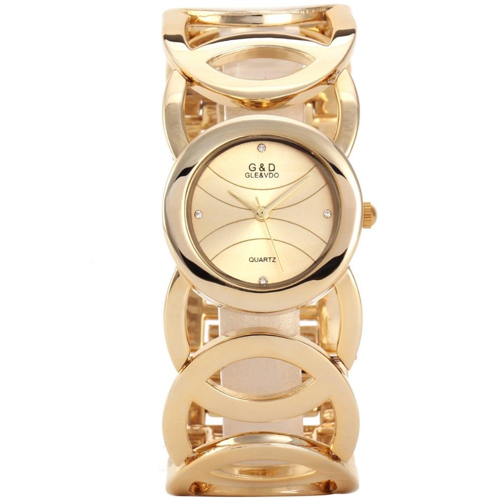 G & D merk dameshorloges 2017 gouden luxe armband horloge damesmode - Dameshorloges - Foto 3