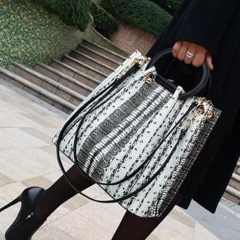Luxury Brand Classical Snake Pattern Ladies Tote Leather Fashion Women's Crossbody Bag Handbags Messenger Bags bolsa feminina
