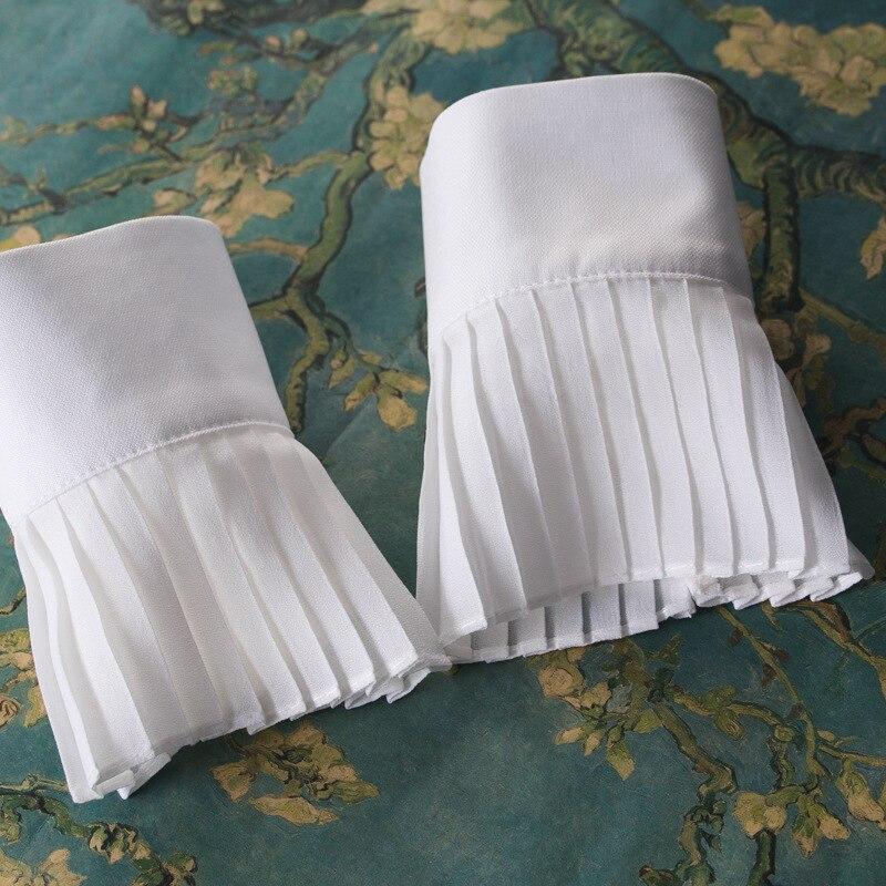 Trendmarkierung Frauen Stoff Tuck Manschette Bekleidung Zubehör Armstulpen
