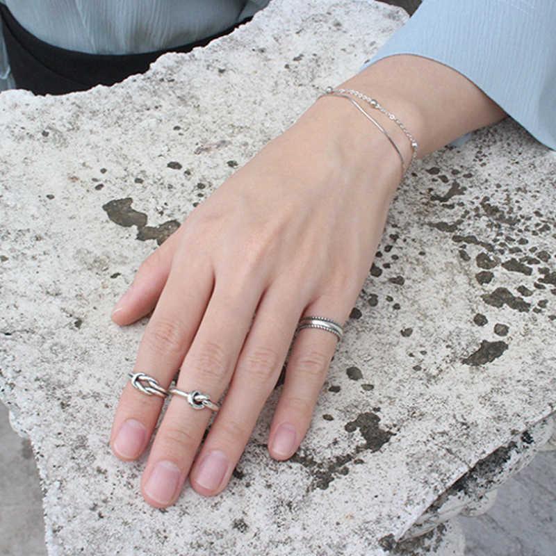 F.i.n.s 925 prata esterlina mulher moda anéis 2019 anel de junta multi estilos ajustável anéis toe anel praia pé jóias