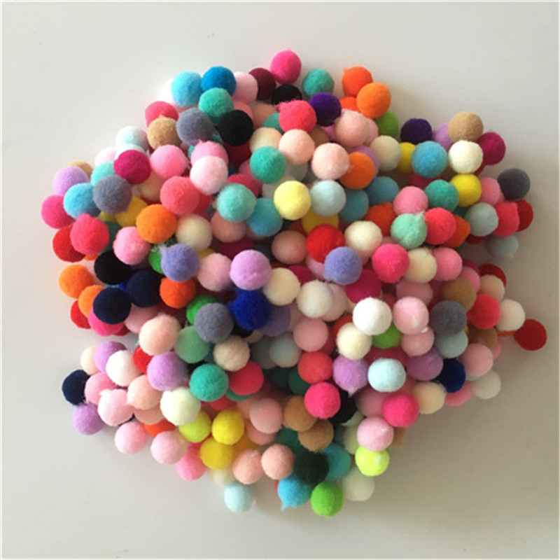 Skillful Trade Ponpon 10mm Multicolor Pompom DIY Decoration Ball Pompon Childrens Manual Educational Toys Accessories 400PC/Bag