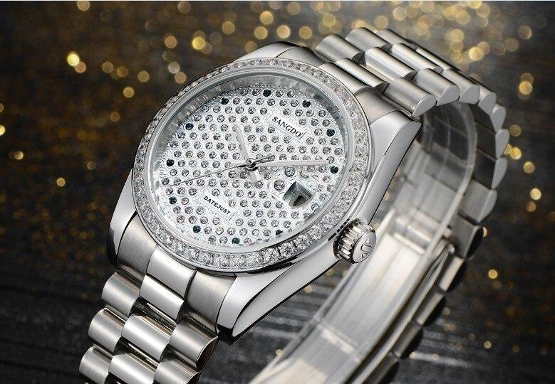 38mm Sangdo Luxe horloges Automatische Self Wind beweging Mechanische horloges 2018 nieuwe mode babysbreath herenhorloge SD40d-in Mechanische Horloges van Horloges op  Groep 3