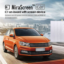 Genuine MiraScreen C1 Car WiFi Display Dongle WiFi Mirror Box Airplay Miracast DLNA GPS Navigation Car for iOS Android Phone TV