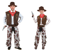 Children Adults West Cowboy Cosplay Costume Boys Girls Men Halloween Costume