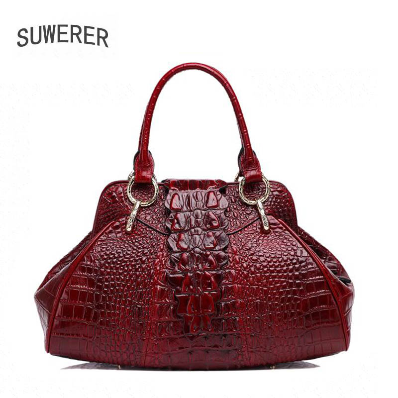 2019 New Genuine Leather women bags Fashion luxury Crocodile pattern handbags women bags designer women leather handbags2019 New Genuine Leather women bags Fashion luxury Crocodile pattern handbags women bags designer women leather handbags