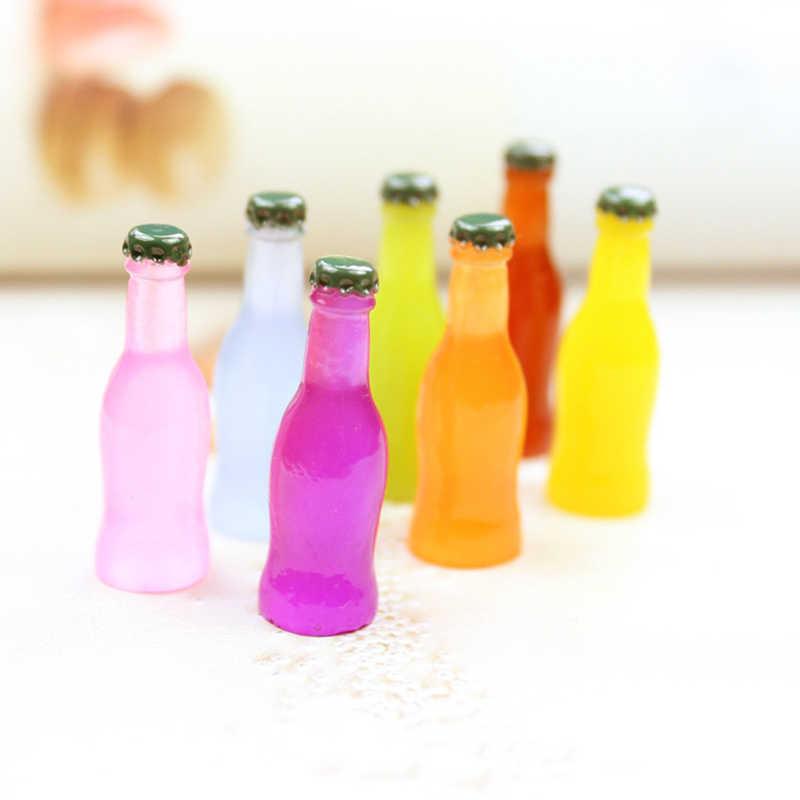 5pcs/10PCS Artificial Mini Drink bottles Accessories Decor Figurine Cabochon Toys Dollhouse/Miniatures DIY Phone Case