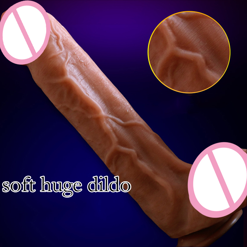 Super Soft Long Dildo With Suction Cup Big Dick Huge Dildos Horse Penis Jelly Dildo Adult Sex Toys For Women Thick Dildo howosex 42 5cm huge translucent dildos long soft dildo penis dick dong with suction cups anal adult game woman sex toys