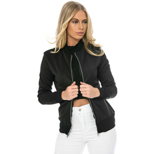 Bodecin Autumn Fashion Bomber Jacket Women Long Sleeve Basic Coats Casual Thin Slim Outerwear Short Pilot Bomber Jackets
