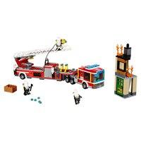 02086 genuino City serie 421 piezas el fuego motor Set bloques ladrillos 60112 Compatible con Legoings