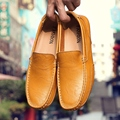 2017 Hot Sale High Quality Split  Men Flats Spring Shoes Loafers Slip On Male Shoes