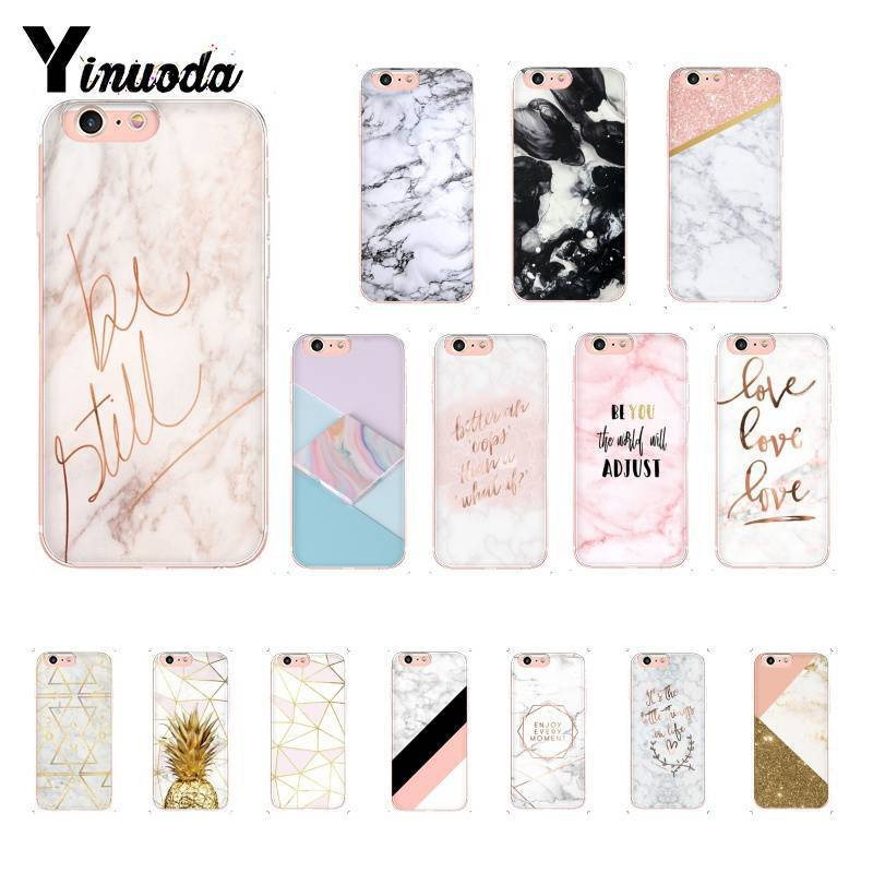 Yinuoda Chic Pink Marble Pretty Design Novelty Fundas Phone Case For Iphone X Xs Max 6 6s 7 7plus 8 8plus 5 5s Xr 10 Case An Enriches And Nutrient For The Liver And Kidney Half-wrapped Case