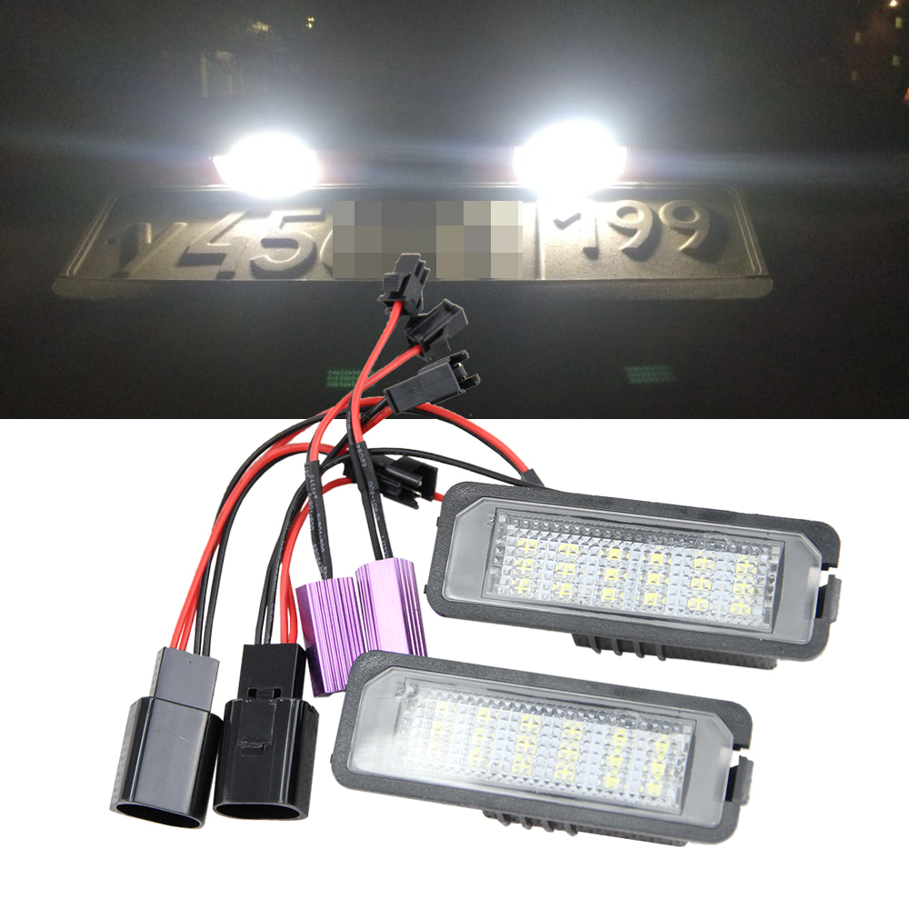 2x 18smd LED Marcos de matrícula Kit de luz para Porsche Boxster Cayman carrera Cayenne 987/997/958 sin cola sustitución de la bombilla