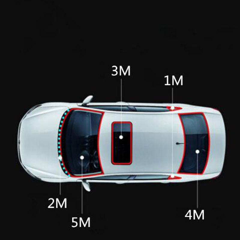 Image 5 - 3M Windshield Rubber Sunroof Sealed Strips Car Sticker for Volkswagen POLO Tiguan Passat Golf EOS Scirocco Bora Lavida-in Car Stickers from Automobiles & Motorcycles