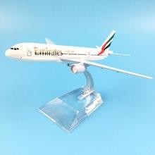 Modelo de avião boeing 777 emirates airline aircraft 777 metal simulação sólida modelo de avião para crianças brinquedos presente natal