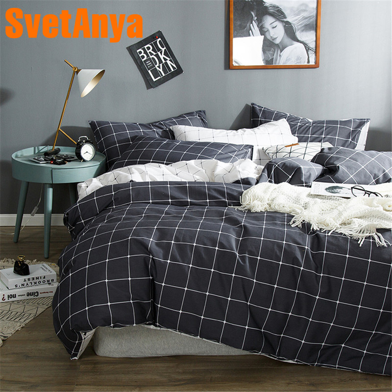 Svetanya Simple Style Cotton Bedding Set Teens bedclothes for Single Double Bed