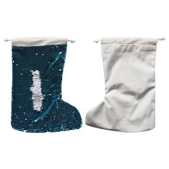 c1b2c2edd En blanco sublimación lentejuelas paquete bolsillo caliente de impresión de  transferencia de bolsas de regalos de navidad consumibles 5 unids/lote  nuevo ...