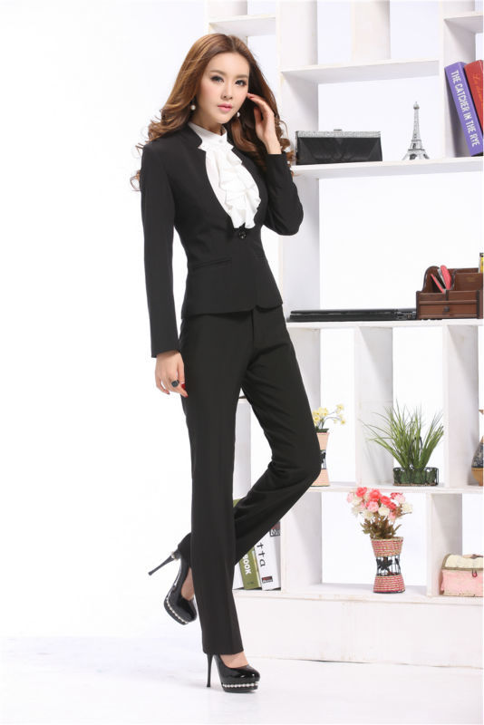 1be14fd2b8201 2014 Newest Fashion Women Suits Blazer   Pants for OL Office Ladies  Professional Sets Long Sleeve Work Wear Sets Plus Size XXXL