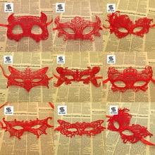1 шт., женские Кружевные маски для Хэллоуина, черные, красные, белые маскарадные костюмы для вечеринок, украшения на день рождения