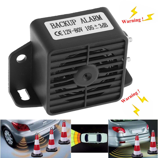 Car Auto Vehicle Horn Reversing Backup Back up Warning Alarm Speaker Beeper for Motorcycle Car Vehicle Tricycle