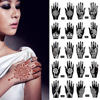 2Pcs/Set Temporary Tattoo stencil 25 designs Body Art Men Women Indian Henna pattern Beauty Waterproof Fake Arm Hand Reuse tatoo 1