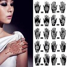 2 pçs/set 25 projetos estêncil Do Tatuagem Temporária Corpo Arte Henna Indiana Das Mulheres Dos Homens padrão de Beleza À Prova D' Água tatoo Falso Braço Mão Reutilização