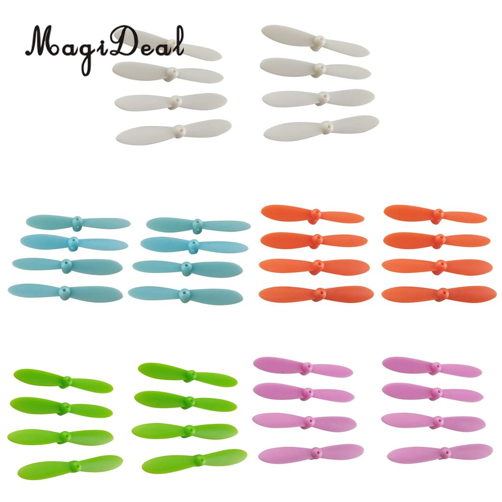 MagiDeal Fashion 5 Colors 40Pcs Airscrew Plastic Propellers for Cheerson CX 10 Mini font b Drone
