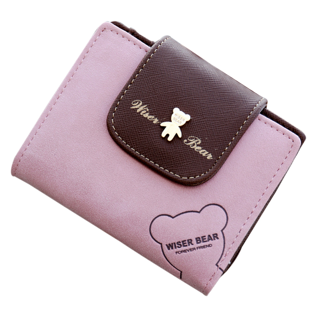 Fashion Lovely Bear Wallet Female Leather Small Change ...