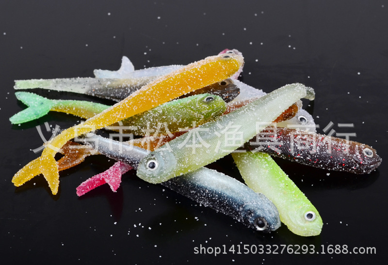 10Pcs lot Silicone Soft Fishing Lure Crankbait Swimming Worms 89mm 3g Shad Fly Sea Fishing Rubber Maggots For Lake River Pesca in Fishing Lures from Sports Entertainment