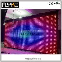 Free shipping P10 3*6M led movie curtain PC controller 4GB SD card flightcase