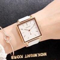 Luxury Brand Simple Wrist Watches For Women Fashion Thin Slim Leather Quartz Watch Clock Waterproof Relogio