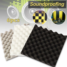 6pcs 305*305*40mm Soundproofing Foam Studio Acoustic Foam Soundproof Absorption Treatment Panel Tile Wedge Polyurethane Foam(China)