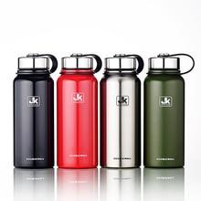 1100 mL 37 unze Edelstahl Wasser Flasche Doppelwand Isolierte Vakuumflasche Breiten Mund Thermos mit TEE-EI BPA freies