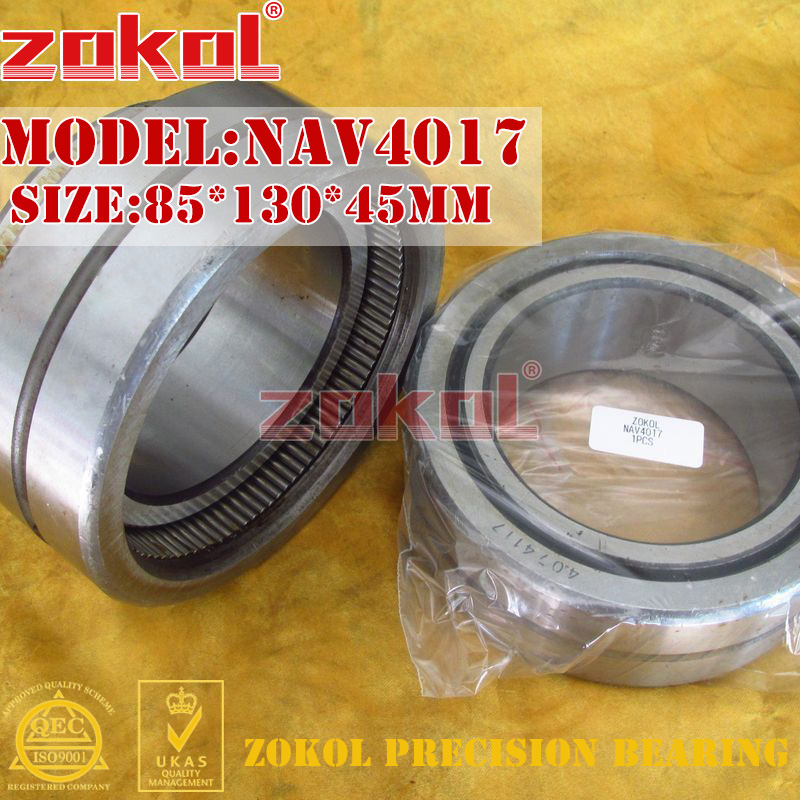 ZOKOL bearing NAV4017 Full bore needle roller bearing with inner ring 85*130*45mm needle roller bearing part inner ring ir859526