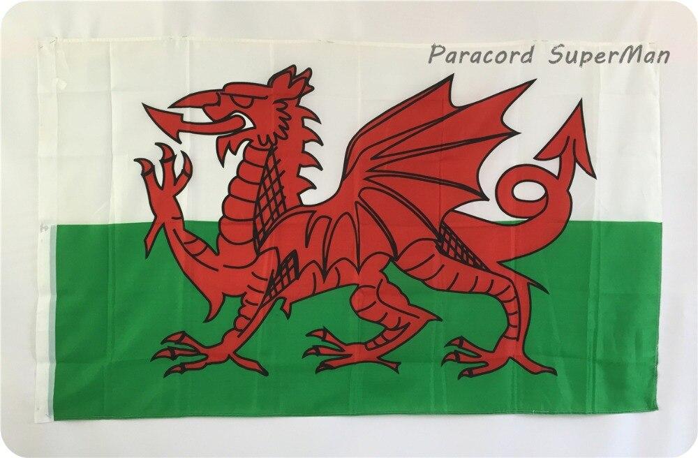 2 pcslot le rouge dragon 3ft x 5ft suspendus drapeau du pays de galles