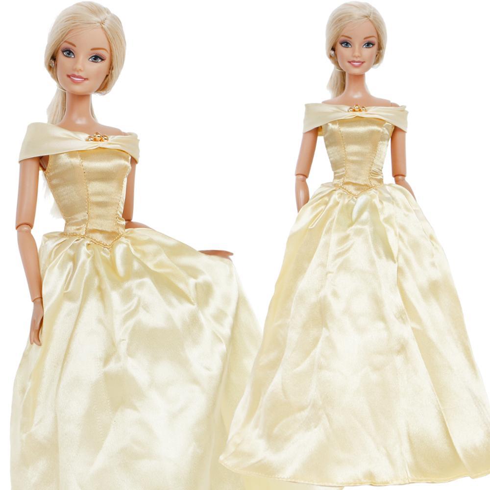 Платье высокого качества вечернее платье желтая юбка Сказочный наряд копия Красивая Одежда для куклы Барби аксессуары для девочек